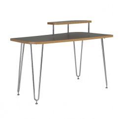 Hanh Desk Gray Shelf Right