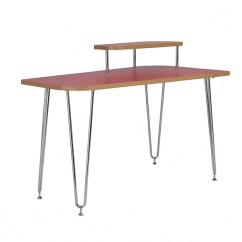Hanh Desk Red Shelf Right