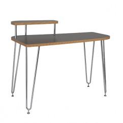 Hanh Desk Gray Shelf Left