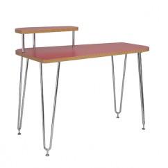 Hanh Desk Red Shelf Left