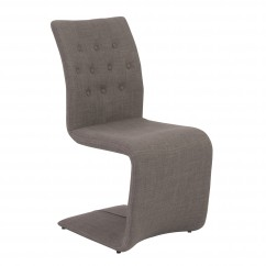 Zad Side Chair - RTA - (Set of 2) - Dark Gray